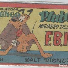 Tebeos: COLECCION BONGO Nº 11 PLUTO MIEMBRO DEL F.B.I. WALT DISNEY . Lote 83711064