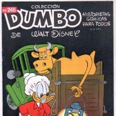 Tebeos: COLECCION DUMBO Nº 248 ERSA 1957 - HISTORIETAS CÓMICAS DE WALT DISNEY - . Lote 89332280