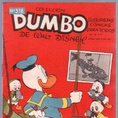 Tebeos: COLECCION DUMBO Nº 318 ERSA 1959 - HISTORIETAS CÓMICAS DE WALT DISNEY -. Lote 89339376