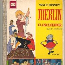 Tebeos: DUMBO. Nº 5. MERLÍN, EL ENCANTADOR. WALT DISNEY. EDICIONES RECREATIVAS. 1970. (C/A58). Lote 95822207