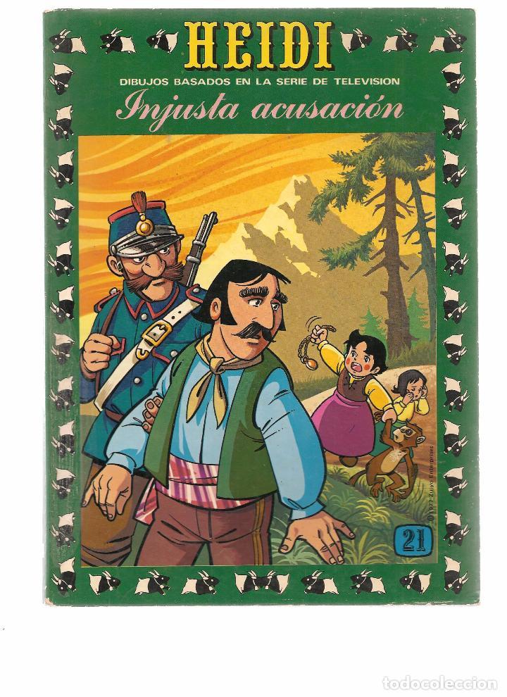 HEIDI. Nº 21. INJUSTA ACUSACIÓN. EDICIONES RECREATIVA 1976. (B/59) (Tebeos y Comics - Ersa)