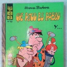 Tebeos: TELE HISTORIETA. COLECCION HANNA BARBERA Nº 62. QUE RICO ES PABLO. Lote 98876783