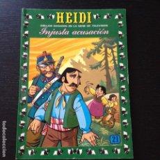 Tebeos: TEBEO HEIDI Nº 21 - INJUSTA ACUSACION - EDICIONES RECREATIVAS ERSA - COMIC. Lote 101794475