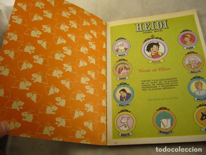 Tebeos: HEIDI Nº 10 CARTA A CLARA. - Foto 2 - 102772543
