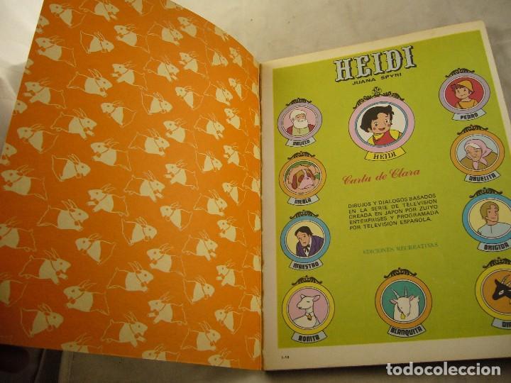 Tebeos: HEIDI Nº 10 CARTA A CLARA - Foto 2 - 102775543