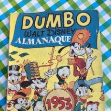 Tebeos: DUMBO - ALMANAQUE PARA 1953 - ERSA - WALT DISNEY. Lote 104304196