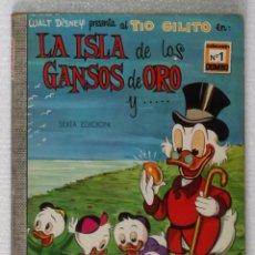 Tebeos: COMIC DUMBO, Nº 1: LA ISLA DE LOS GANSOS DE ORO, TIO GILITO - ERSA, WALT DISNEY, 1970. Lote 105556391