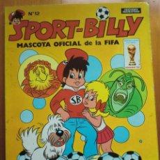 Tebeos: COMIC SPORT BILLY Nº 12 (1982) DE EDICIONES RECREATIVAS ERSA. MUY BUEN ESTADO. Lote 111907319