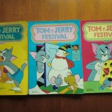 Tebeos: LOTE DE 3 TEBEOS COMIC TOM Y JERRY FESTIVAL DE EDICIONES RECREATIVAS ERSA. BUEN ESTADO. Lote 56552121
