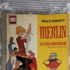 Tebeos: MERLIN EL ENCANTADOR, COLECCION DUMBO Nº 5, WALT DISNEY, 1967. Lote 115191319