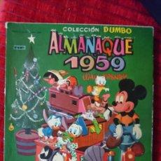 Tebeos: ALMANAQUE 1959 COLECCIÓN DUMBO WALT DISNEY. Lote 118491846