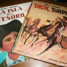 Tebeos: LA ISLA DEL TESORO / DICK TURPIN - WALT DISNEY - COLECCIÓN LARGOMETRAJE Nº 2, 3 - ERSA, 1973.. Lote 121271679