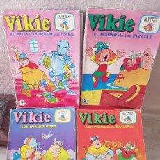 Tebeos: LOTE COMIC VIKIE EL VIKINGO DE LA TELE Nº 2-25-9-4 ERSA TAURUS 1975 EDICIONES RECREATIVAS. Lote 122090135