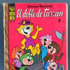 Tebeos: TELE HISTORIETA HANNA BARBERA Nº 5 EL DOBLE DE TARZÁN EDITORIAL LUYVE 1971. Lote 124880699