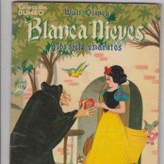 Tebeos: COLECCIÓN DUMBO-- BLANCA NIEVES Y LOS SIETE ENANITOS (1965)+ LA DAMA Y EL VAGABUNDO (1957). Lote 125174455