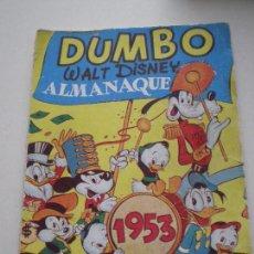 Tebeos: COLECCION DUMBO - ALMANAQUE 1953 - WALT DISNEY EDICIONES RECREATIVAS S.A. E.R.S.A. ERSA 1953. Lote 133563010