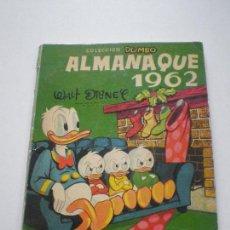 Tebeos: COLECCION DUMBO - ALMANAQUE 1962 - WALT DISNEY EDICIONES RECREATIVAS S.A. E.R.S.A. ERSA 1962. Lote 133565350