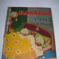 Tebeos: TEBEO WALT DISNEY COLECCIÓN DUMBO ALMANAQUE AÑO 1963 DE EDICIONES RECREATIVAS - ERSA -. Lote 142277446