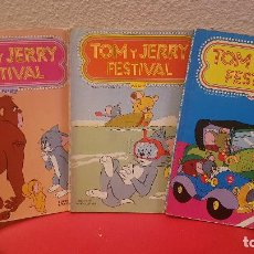 Tebeos: LOTE 3 COMIC TEBEO ERSA TOM Y JERRY FESTIVAL EDICIONES RECREATIVAS 23,27,28. Lote 153882734