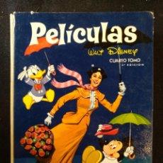 Tebeos: PELICULAS WALT DISNEY 2 EDICIÓN, TOMO N°4. 1967. Lote 157342680
