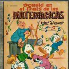 Livros de Banda Desenhada: COLECCION DUMBO Nº VI 6 - DONALD EN EL PAIS DE LAS MATEMATICAS - ERSA 1967, 2ª EDICION, 35 PTAS. Lote 159422546