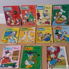 Tebeos: LOTE 11 COMICS PATO DONALD EDICIONES RECREATIVAS AÑOS 70WALT DISNEY . Lote 163029498