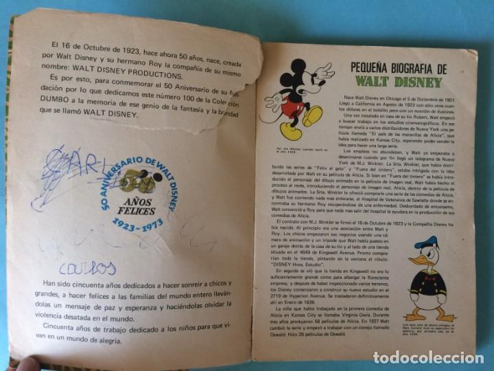 Tebeos: Colección DUMBO Nº 100 - EXTRA - ERSA - Walt Disney - 160 PÁGINAS - 1973 - VER FOTOS - Foto 4 - 165294346