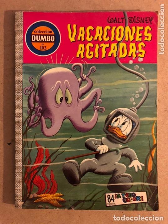 COLECCIÓN DUMBO N° 102. VACACIONES AGITADAS. WALT DISNEY. EDICIONES RECREATIVAS 1976. (Tebeos y Comics - Ersa)