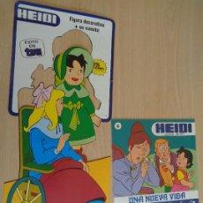 Tebeos: HEIDI FIGURA DECORATIVA TROQUELADA (34CM) + CUENTO INFANTIL Nº 6. EXITO TVE. EDITA ERSA 1987. Lote 194722057