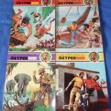 BDs: LAS AVENTURAS DE GEYPERMAN Nº 1,3,7,8 - EDICIONES RECREATIVAS (1979). Lote 197376052