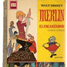 Tebeos: DUMBO. Nº 5. MERLÍN, EL ENCANTADOR. WALT DISNEY. ERSA, 1969. (P/B3). Lote 198429663