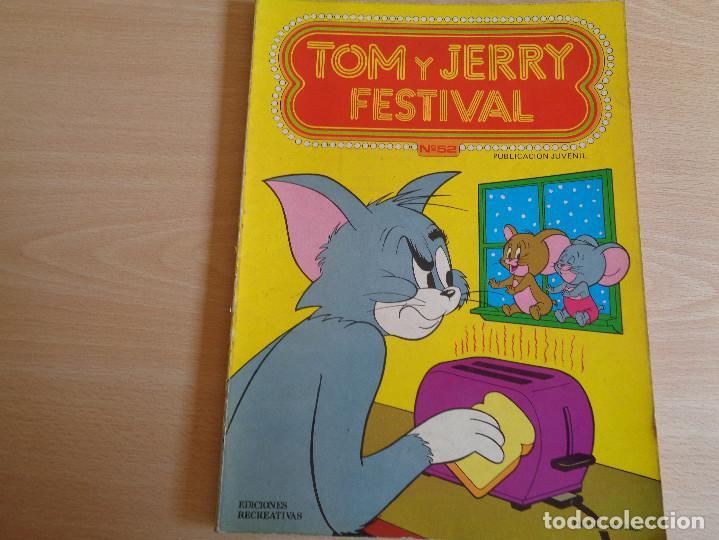 TOM Y JERRY FESTIVAL Nº 52. EDICIONES RECREATIVAS 1981. BUEN ESTADO (Tebeos y Comics - Ersa)