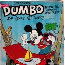 Tebeos: DUMBO Nº 274 - HISTORIETAS CÓMICAS - WALT DISNEY 1958. Lote 204507895