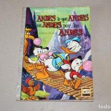 Tebeos: COLECCIÓN DUMBO ERSA. Nº 7: ANDES LO QUE ANDES NO ANDES POR LOS ANDES - AÑO: 1971 - WALT DISNEY. Lote 206335913