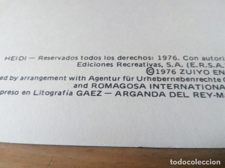 Tebeos: COLECCION INCOMPLETA DE HEIDI AÑO 1976 - Foto 8 - 219065332