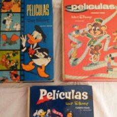 BDs: PELICULAS WALT DISNEY, TOMO I - 5ª EDIC., TOMO II - 2ª EDIC. Y TOMO IV - 2ª EDICION.. Lote 220819032