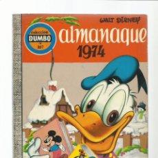 Tebeos: DUMBO 107, ALMANAQUE 1974, EDICIONES RECREATIVAS, BUEN ESTADO. Lote 222551730