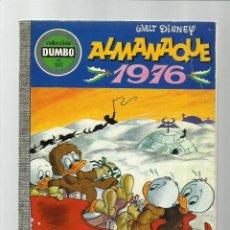 Tebeos: DUMBO 132: ALMANAQUE 1976, EDICIONES RECREATIVAS, BUEN ESTADO. Lote 222554482