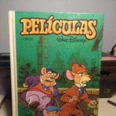 Tebeos: WALT DISNEY PELICULAS. TOMO 67 ( BASIL EL RATON SUPERDETECTIVE, PATO DONALD, COMANCHE, MICKEY MAUSE. Lote 231922585