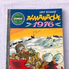 Tebeos: DUMBO . Nº 132. ALMANAQUE 1976. EDICIONES RECREATIVAS. 1975, CONSERVA BILLETE DEL TIO GILITO. Lote 276681123