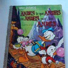 Tebeos: ANDES LO QUE ANDES NO ANDES POR LOS ANDES Y..., COLECCION DUMBO Nº 7, ERSA 1971 WALT DISNEY DONALD. Lote 287940553