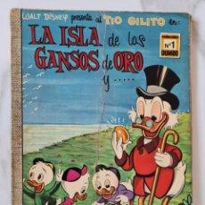 Tebeos: LA ISLA DE LOS GANSOS DE ORO COLECCION DUMBO 1 WALT DISNEY ERSA DONALD MICKEY DON. Lote 290015213