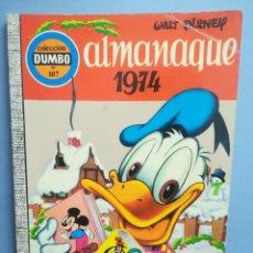 Livros de Banda Desenhada: DUMBO. Nº 107. ALMANAQUE 1974 . ERSA.. Lote 293150603