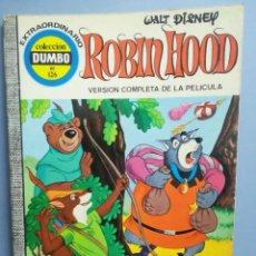 Livros de Banda Desenhada: DUMBO. Nº 126. ROBIN HOOD. VERSIÓN COMPLETA DE LA PELÍCULA . ERSA. ¡DIFÍCIL!. Lote 293150973