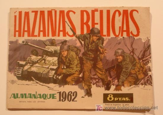 HAZAÑAS BÉLICAS AÑO 1962, ORIGINAL (Tebeos y Comics - Tebeos Almanaques)