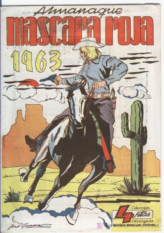 MASCARA ROJA ALMANAQUE 1963, RAREZA Y NUEVO (Tebeos y Comics - Tebeos Almanaques)