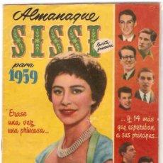 Tebeos: SISSI -- ALMANAQUE PARA 1959 -- ORIGINAL. Lote 24576678