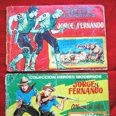 Tebeos: JORGE Y FERNANDO. 1º Y 2º ALBUM DE LUJO AÑO 1958 ED. DOLAR CONTIENE CADA UNO 5 CAPITULOS - RARO -. Lote 24710722