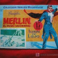 Tebeos: MERLIN EL MAGO MODERNO 2º ALBUM DE LUJO AÑO 1958 EDITORIAL. DOLAR CONTIENE 5 CAPITULOS - RARO. Lote 26292132