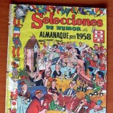 Tebeos: SELECCIONES DE HUMOR DE EL DDT - ALMANAQUE 1958. Lote 13421657